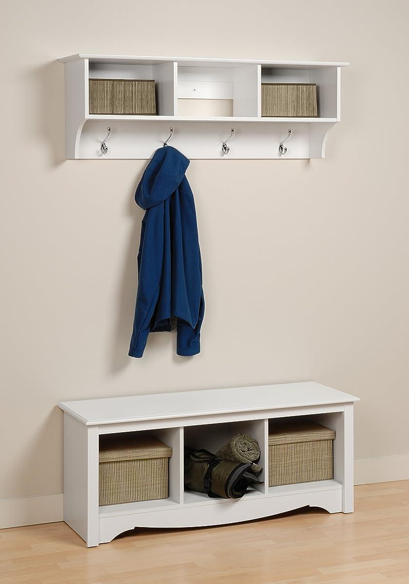 Prepac Entryway Cubbie Shelf, White