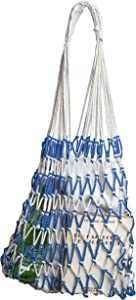 The Luisa MARKET BAG by ALL NAHLO Excellent for whole foods and Groceries. Made with natural straw Trash bags tote reusable miele canvas shopping lunch kavu recycling kitchen househol
