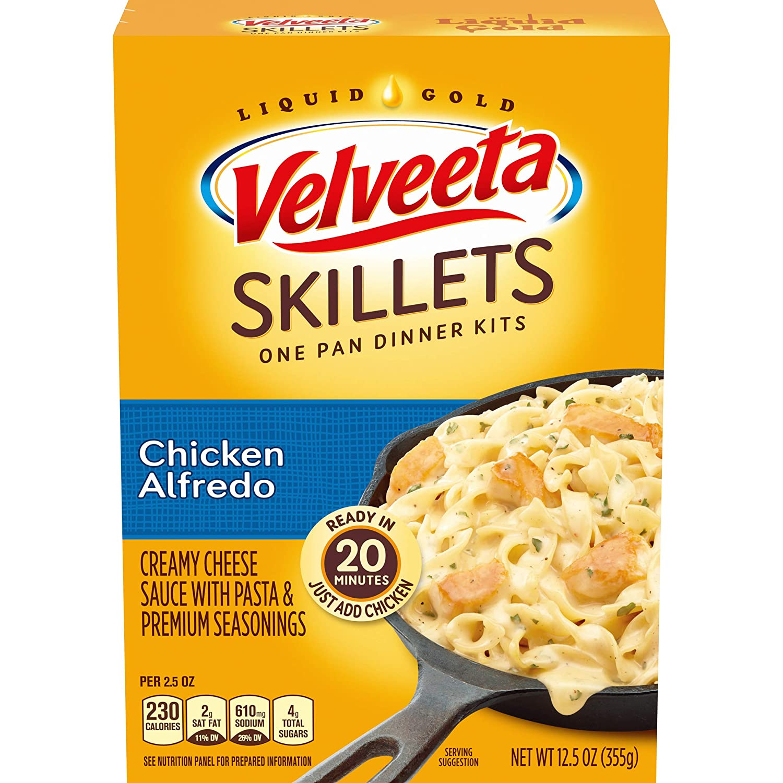 Velveeta Cheesy Skillets Chicken Alfredo Meal Kit (12.5 oz Boxes, Pack of 6)