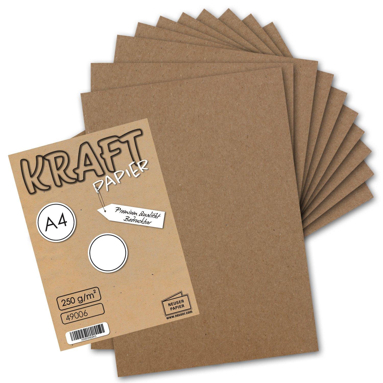 300x 300x 300x Vintage Kraftpapier DIN A4 250 g m² natur-braunes Recycling-Papier, 100% ökologisch Bastel-Karton Einzel-Karte I UmWelt by GUSTAV NEUSER® B07FVHJJGL Kartenkartons Kostengünstig d8dc3d