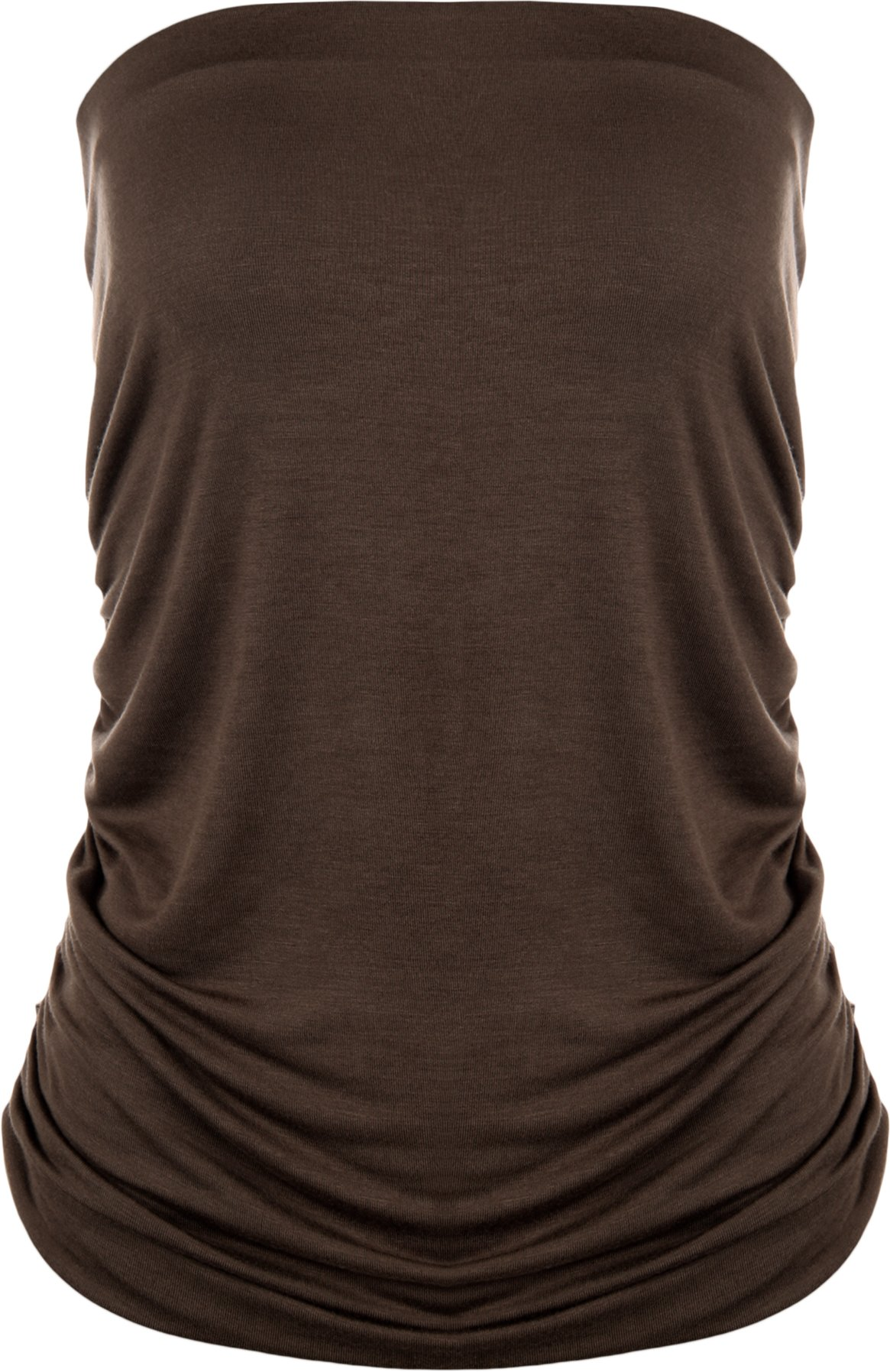 WearAll Plus Size Plain Bandeau Top - Dark Brown - US 20-22 (UK 24-26)