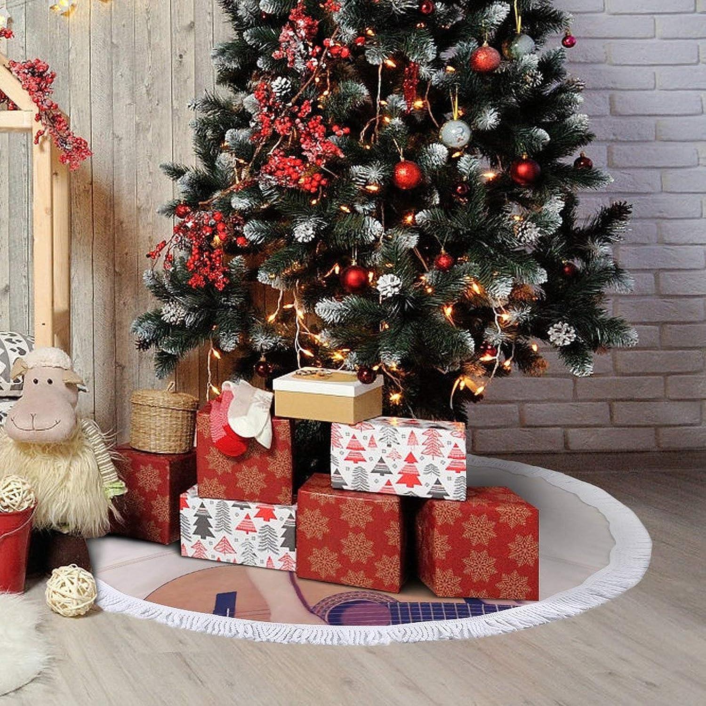 PSDJKI Shakira Fashion Christmas Tree Skirt,Christmas Tree Holiday Decor 48''×48''