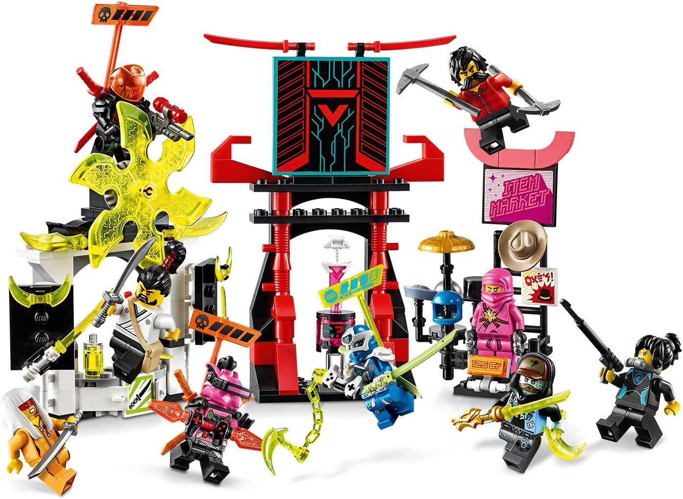 Avatar Pink Zane Un Lego 71708 Ninjago Marktplatz Minifiguren-Set Mit Digi Jay