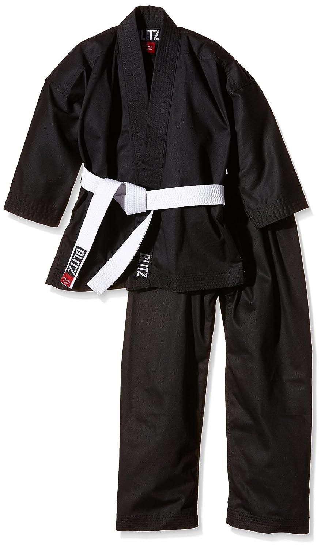 Blitz Sport Adulto Polycotton Estudiante Karate Negro Traje