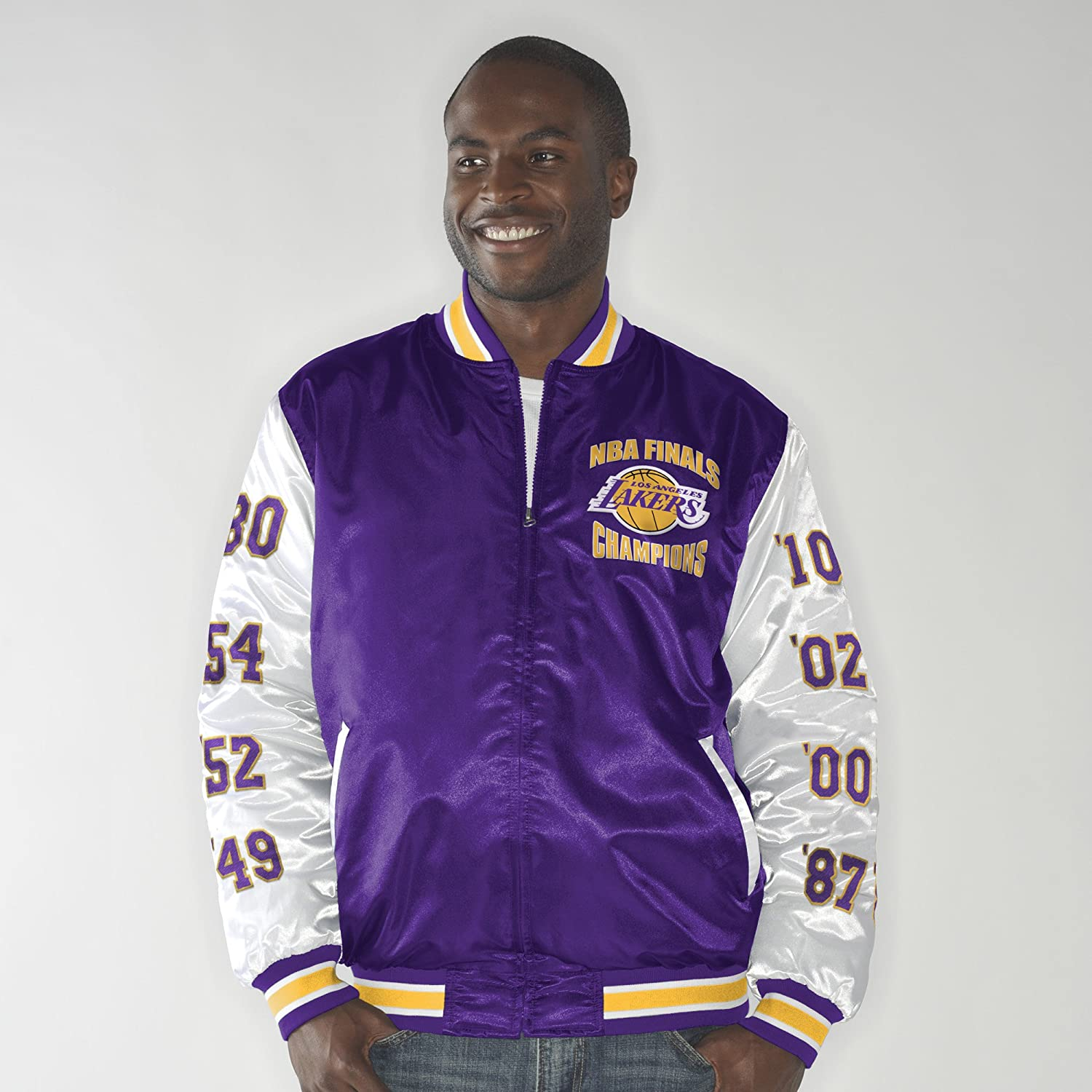 G Iii Sports Los Angeles Lakers Up The Gut Nba Finals Champs Commemorative Satin Jacket Xxx Large Outerwear Clothing Cjp Org In