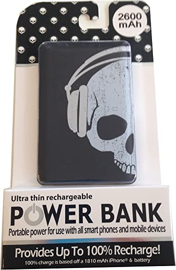 Skull With Headphones Ultra Thin Rechargeable Power Bank Amazon Ca Cell Phones Accessories