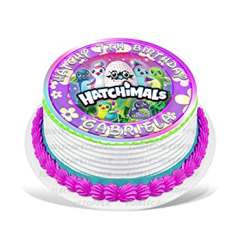 Hatchimals Edible Cake Topper Personalized Birthday 8quot Round Circle Decoration Party Sugar Frosting Transfer