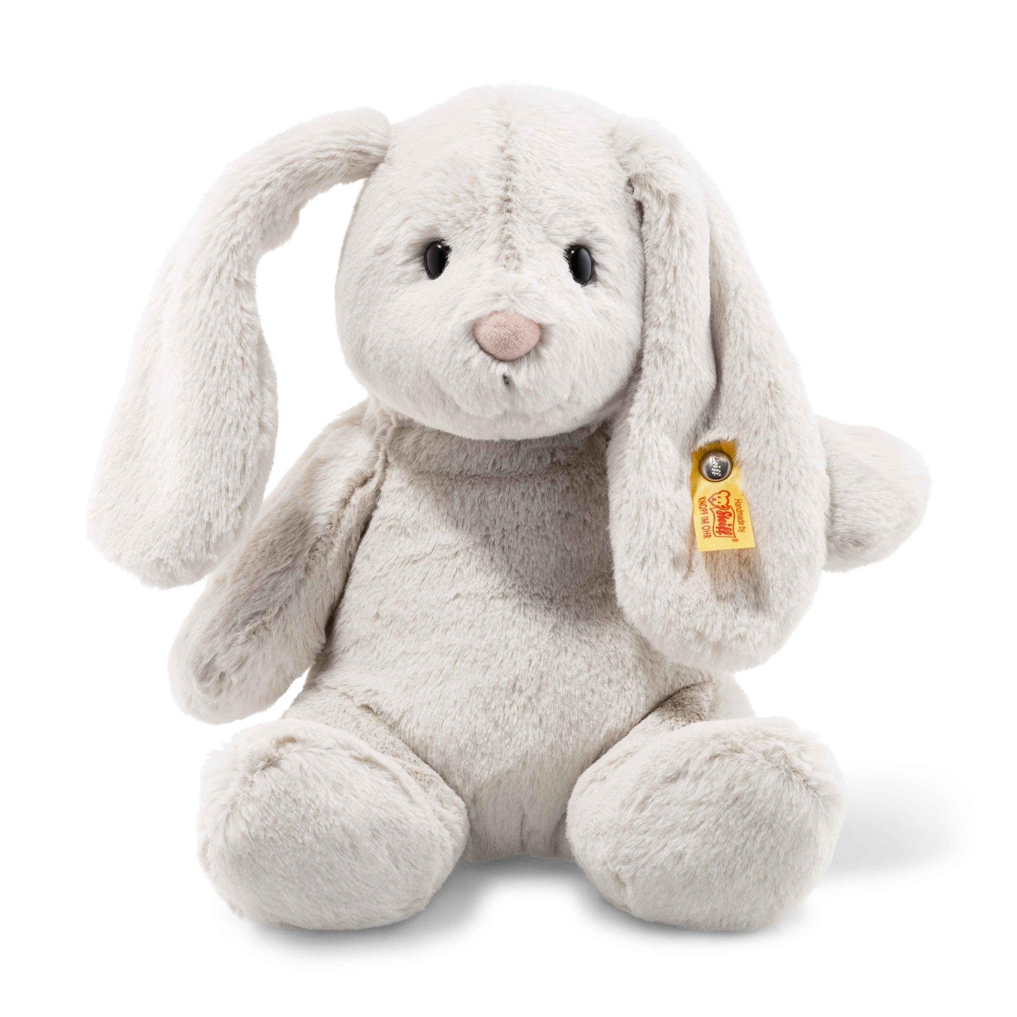 Steiff Stuffed 12'' Bunny Rabbit - Vintage Soft and Cuddly Plush Animal Toy - 12'' Authentic Steiff by Steiff
