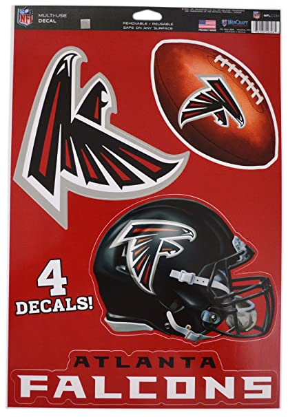 low priced 58739 c3f2e WinCraft Official National Football League Fan Shop Licensed NFL Shop  Multi-use Decals (Atlanta Falcons)