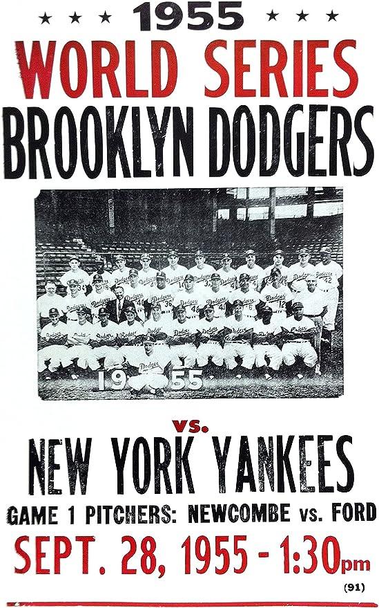 Amazon|1955年ワールドシリーズ ドジャース vs ヤンキース 14インチ x ...