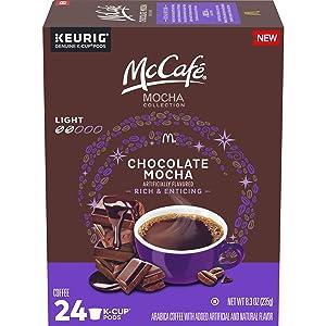 McCafé Mocha Collection Chocolate Mocha Light Roast K-Cup Coffee Pods (24 Pods)