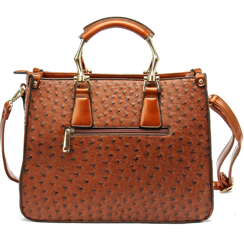 e3f3ebb9f78 Long   Son Ladies Fashion Designer Handbags Womens Shoulder Bags Tote  Shoulder Style (Brown)  Amazon.co.uk  Shoes   Bags