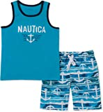 Nautica Sets (KHQ) Baby-Boys 2 Pieces Tank Top with Swim Shorts Set Shorts Set - Multi