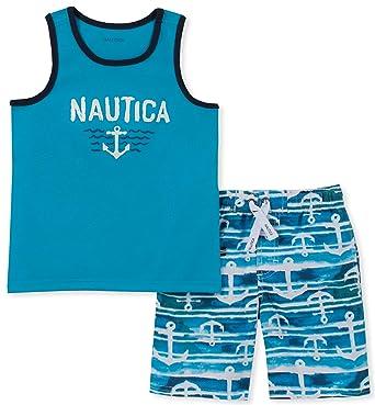 361a4f1719 Amazon.com: Nautica Sets (KHQ) Baby Boys 2 Pieces Tank Top with Swim Shorts  Set: Clothing