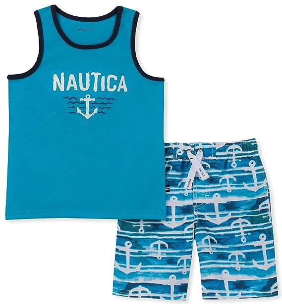 9446eac14e Nautica Sets (KHQ) Boys' Toddler 2 Pieces Tank Top with Swim Shorts Set