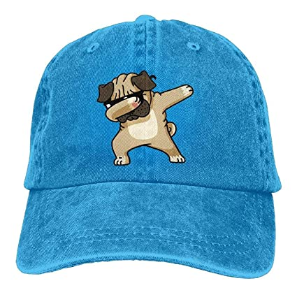357766da2f310 Image Unavailable. Image not available for. Color  ACD TV Funny Hat  Baseball Cap Dabbing Sunglasses Pug Dog ...