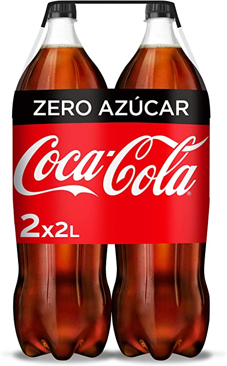 Coca-Cola Zero Azúcar Botella - 2 l (Pack de 2): Amazon.es ...
