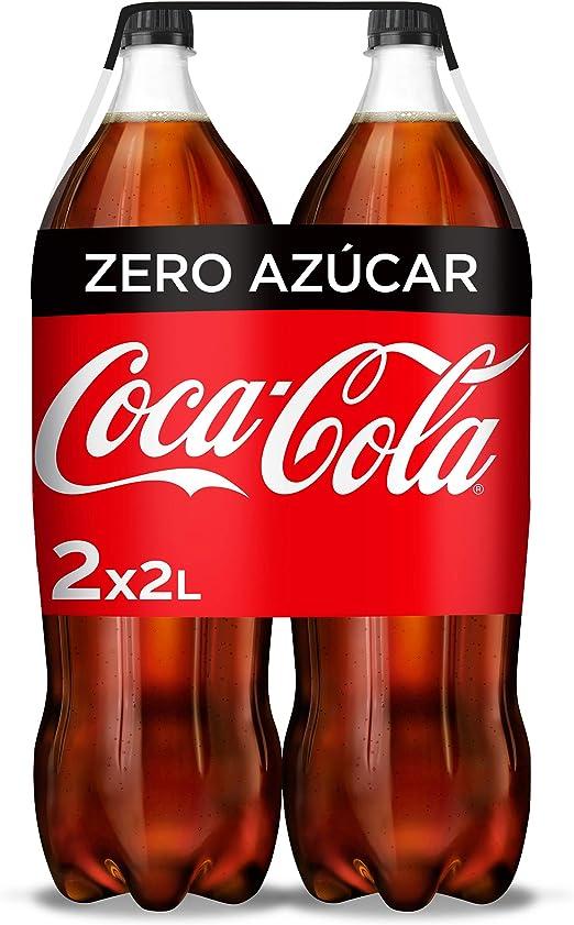 Coca-Cola Zero Azúcar Botella - 2 l (Pack de 2): Amazon.es: Alimentación y bebidas