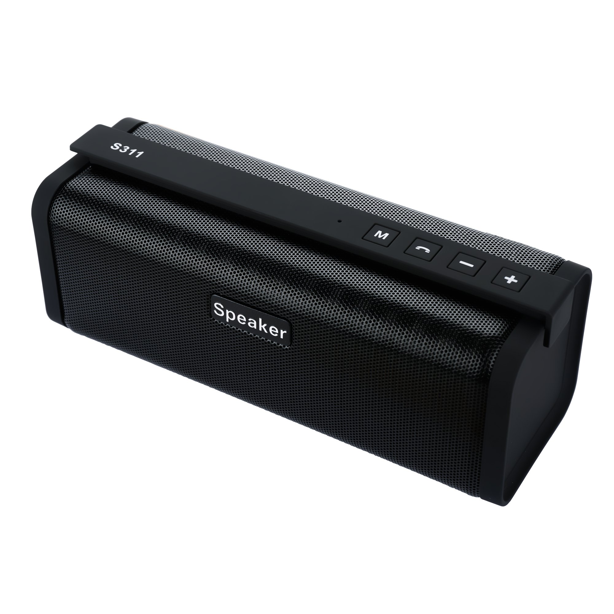 Portable Wireless Bluetooth 4.0 Speaker 10W Outdoor with 33-Foot Bluetooth Range, FM Radio, USB, Micro SD, 1200mAh Power Bank For Charging, Strong Bass Build in Microphone - Black by sanwo