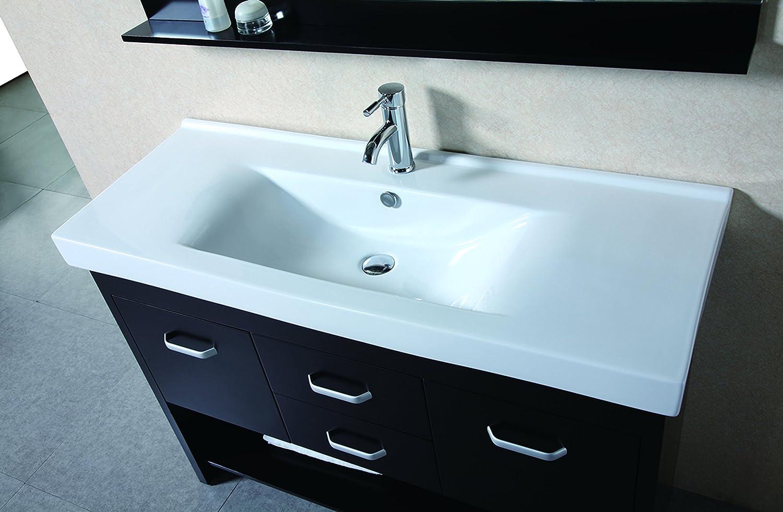 design element citrus mini integrated porcelain dropin double sink vanity set 48inch bathroom vanities amazoncom