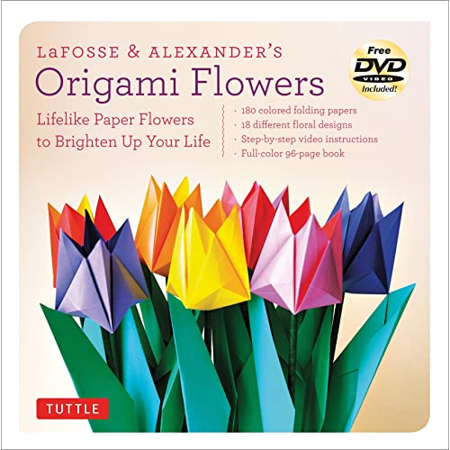 Origami flowers amazon lafosse and alexanders origami flowers kit everything you need to create beautiful paper flowers mightylinksfo