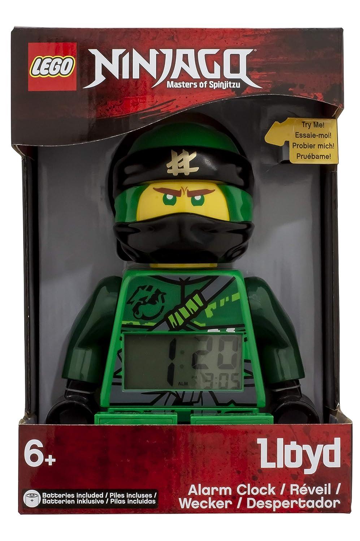Plastic 24cm Clictime Lego Réveil Lumineux Figurine Lloyd Ninjago 9009198 Enfant Noir