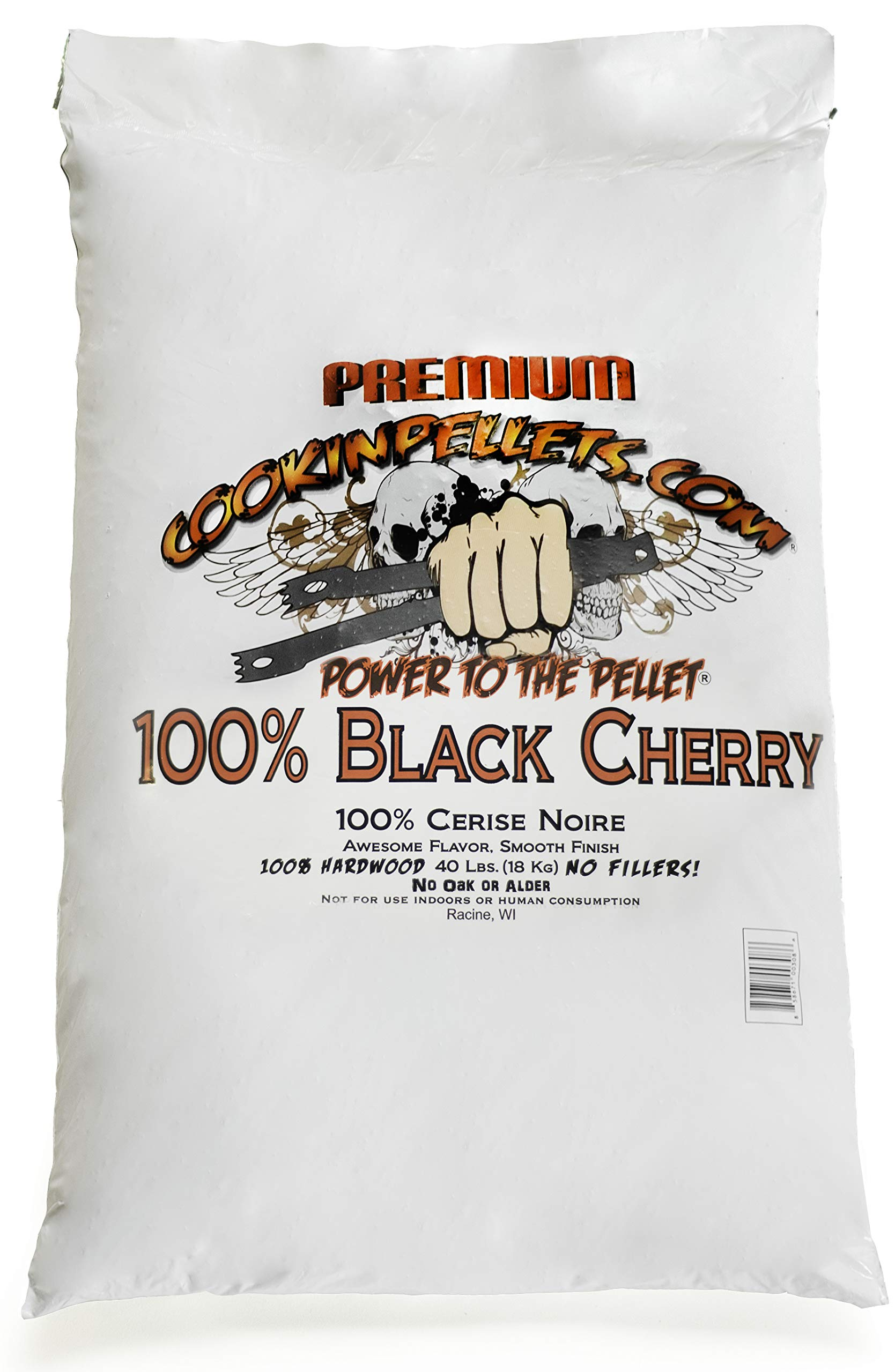 CookinPellets CPBC40lb 100% Black Cherry Pellets Cooking, Brown by CookinPellets