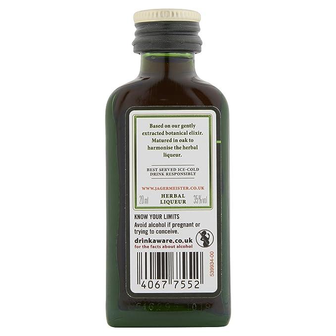Jagermeister Miniature Set 2cl (Case of 24): Amazon.es: Alimentación y bebidas