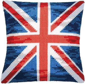 Amazon.com: Union Jack – Cojín de punto de cruz kit contiene ...