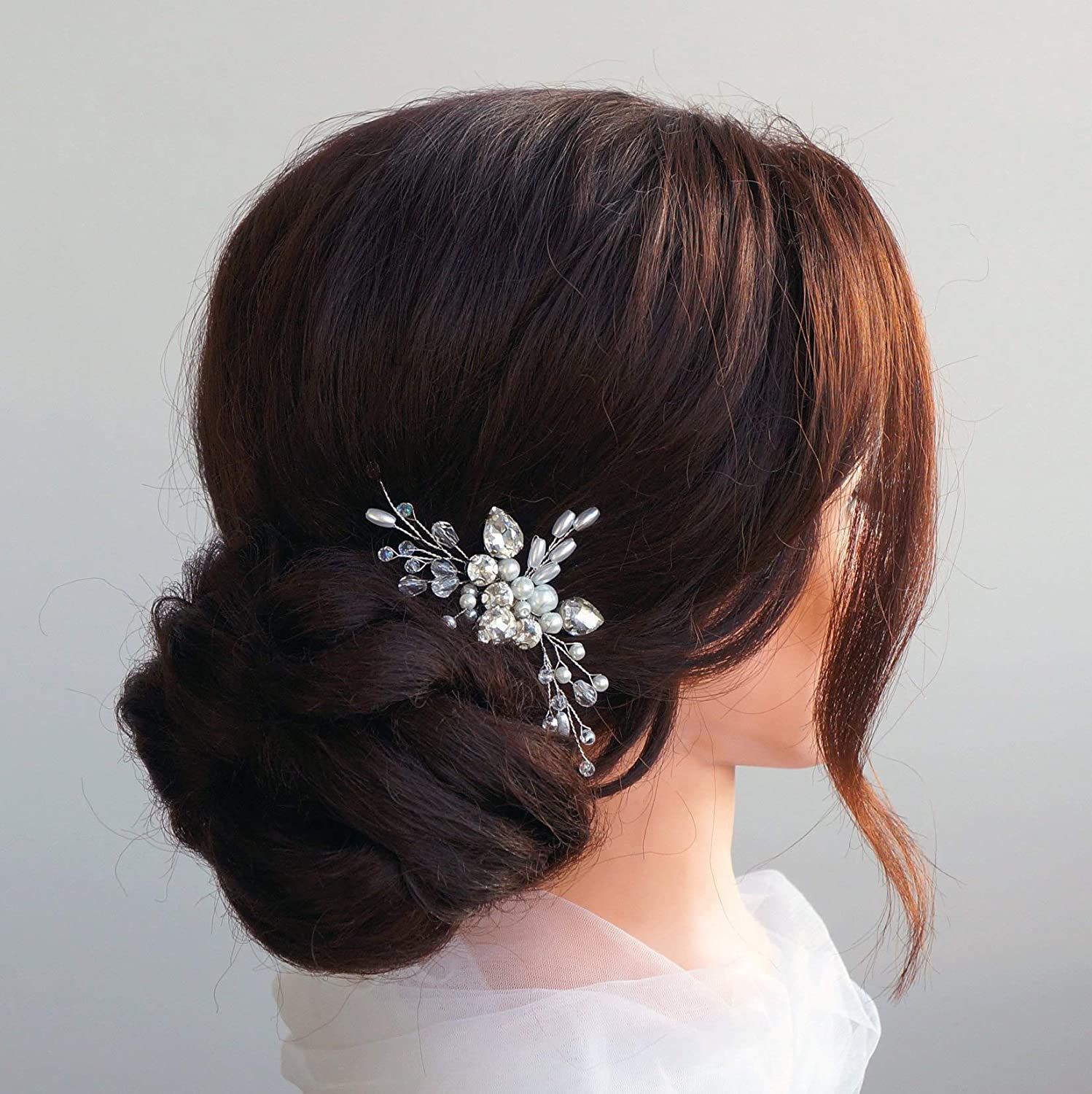 Kercisbeauty Wedding Bridal Hair Comb Hair Accessories For Bride Small Hair Comb For Bun Girls Prom Hair Piece Silver Amazon Co Uk Beauty