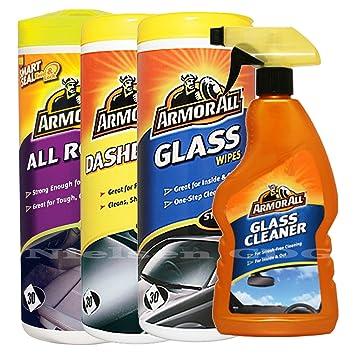 ArmorAll todo - SALPICADERO Gloss - Toallitas Toallitas de cristal y cristal Cleaner Spray: Amazon.es: Coche y moto