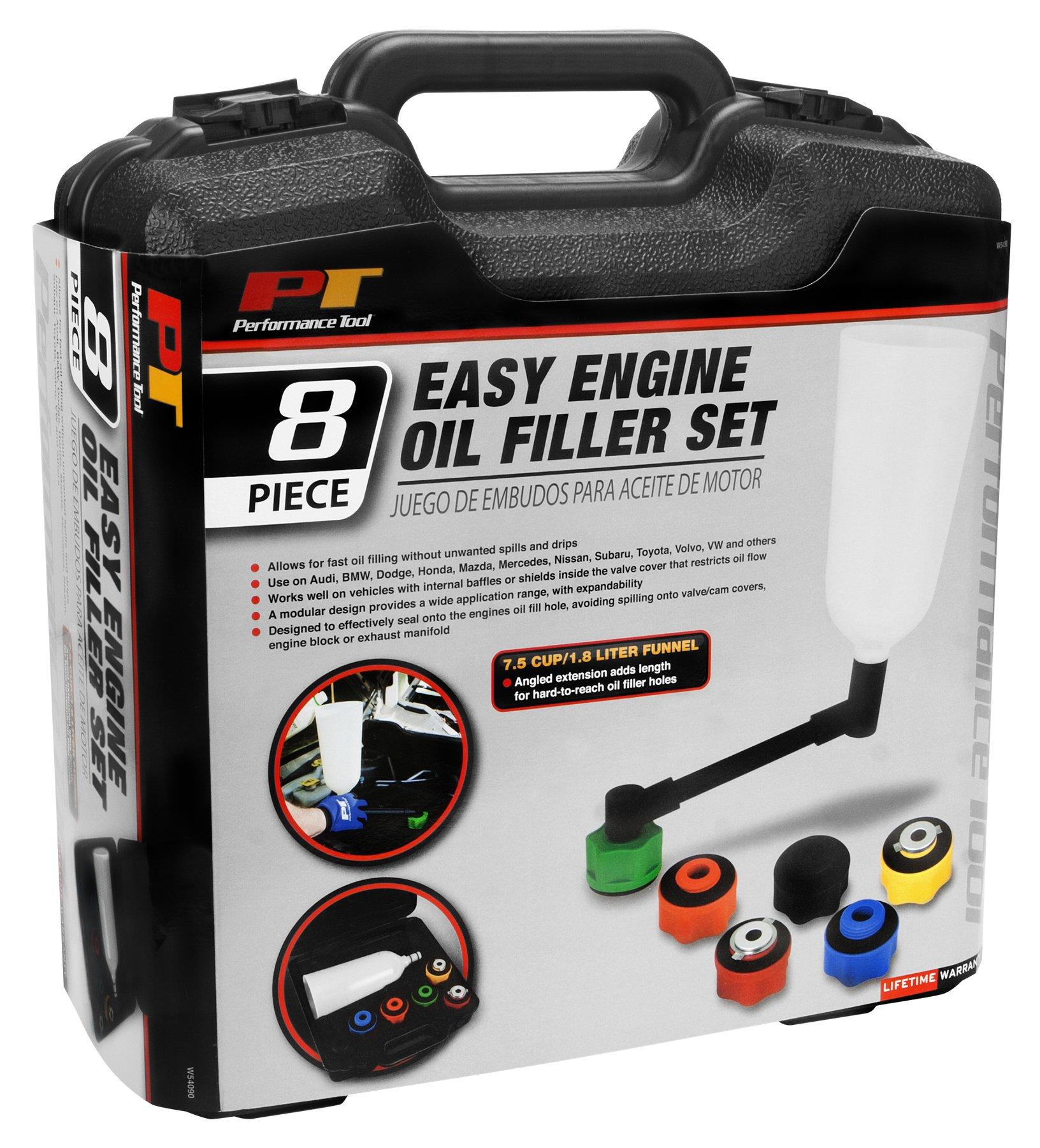 Performance Tool W54090 8Pc Engine Oil Filler Set 8Pc Engine Oil Filler Set by Performance Tool (Image #4)