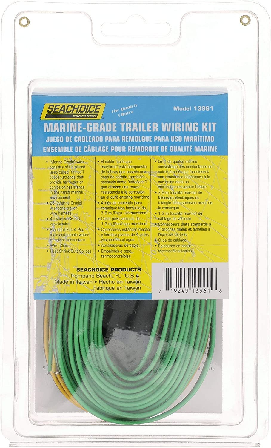 """Seachoice 13961 Trailer /""""Y/"""" Harness 48 Inch Vehicle Side Connectors for Wishbone Trailers 25 Foot Long Marine Grade"""