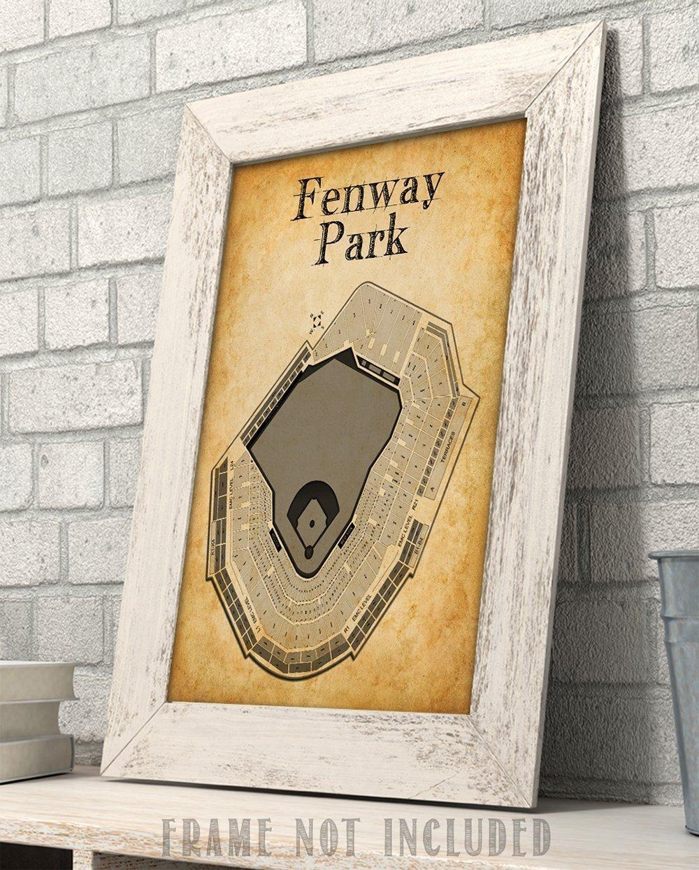 Amazon.com: Fenway Park Baseball Stadium Seating Chart Art Print ...