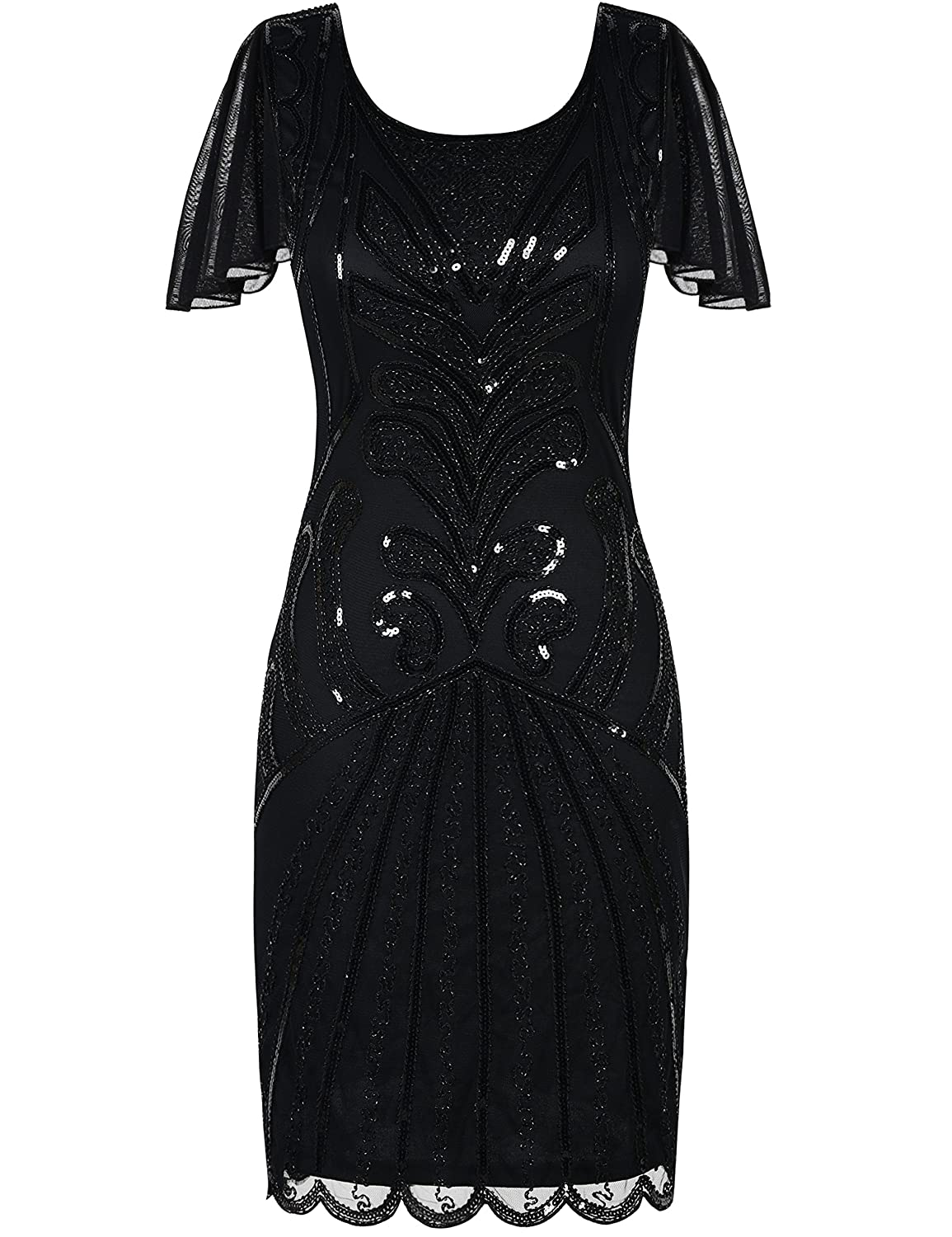 f02ce70f For those who adore vintage dresses that stand out from the crowd, you\'ll  love the artistic appeal of this flapper dress. This art deco flapper dress  ...