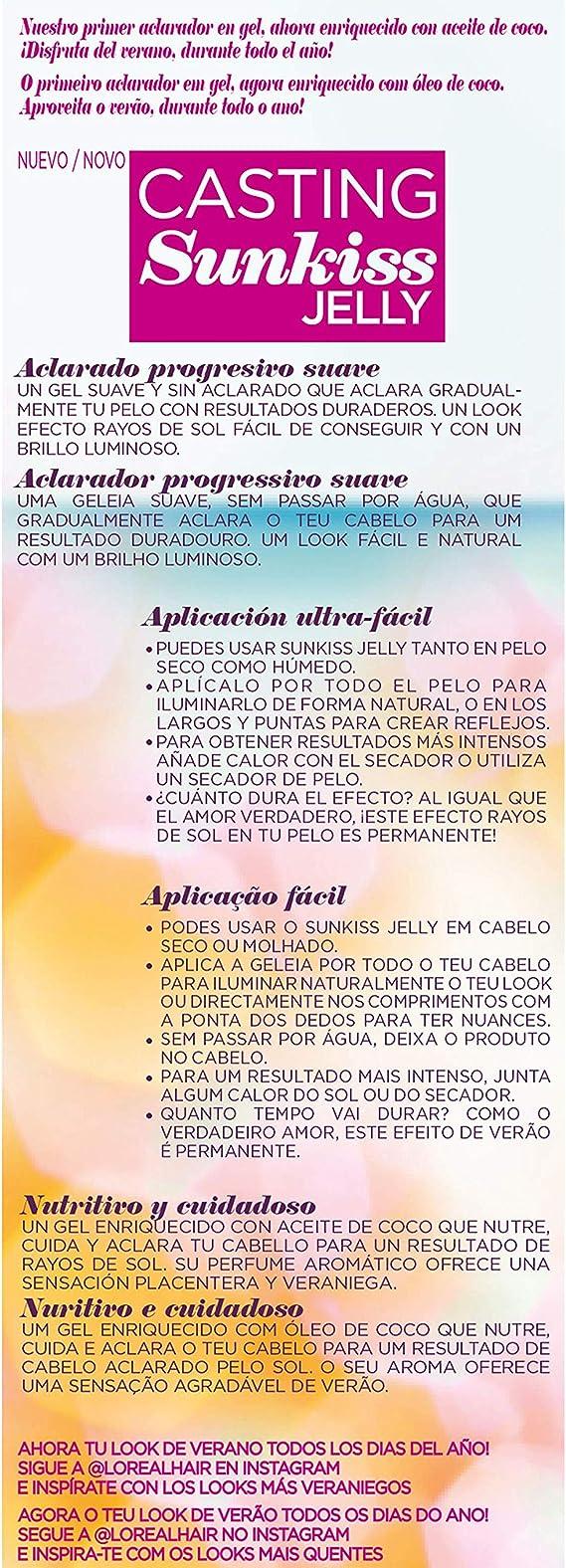 LOreal Paris Casting Crème Gloss Jelly 01 para Cabello Castaño