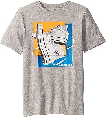 Converse Camiseta para niños con diseño cuadrado