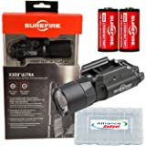 Surefire X300 Ultra X300U-B LED WeaponLight 600 Lumens with 2x Extra Surefire CR123A Batteries and Battery Case