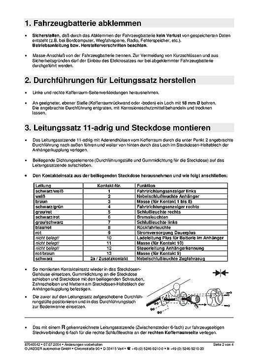 Niedlich Schaltplan Der Anhängerkupplung Zeitgenössisch - Die Besten ...