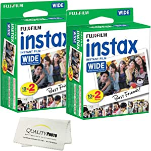 Fujifilm instax Wide Instant Film 4 Pack (40 Exposures) for Fujifilm instax Wide 300 200 and 210 cameras
