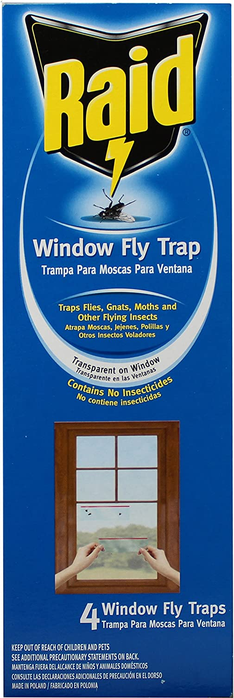 Raid Window Fly Traps, 4 Traps