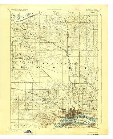 Amazon Com Yellowmaps Davenport Ia Topo Map 1 62500 Scale 15 X 15