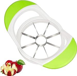 Apple Slicer, Kmeivol 8 Blade Apple Corer, Sharp Apple Cutter, Apple Slicer and Corer with Non-Slip Handles, Stainless Steel Blades, 4 Inches Large Fruit Slicer for Apples, Pears, Onion
