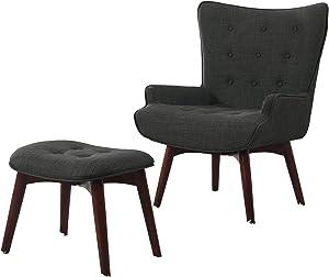 Best Master Furniture Accent Chair, Regular, Grey