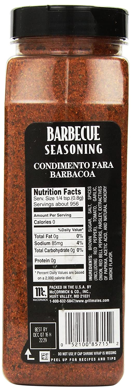Amazon.com : McCormick Grill Mates Barbecue Seasoning, 27 oz : Grillmates Barbeque Seasoning : Grocery & Gourmet Food