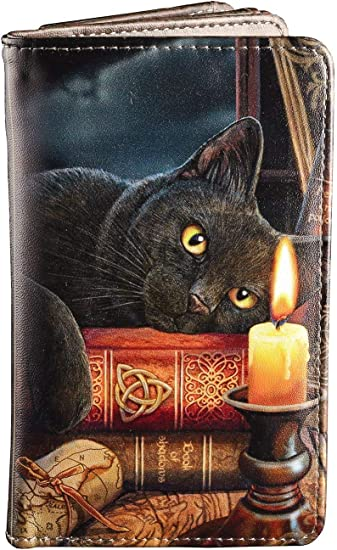 Gothic Geldbörse Geldbeutel Portemonnaie Witching Hour Witchs Katze Kerze Buch