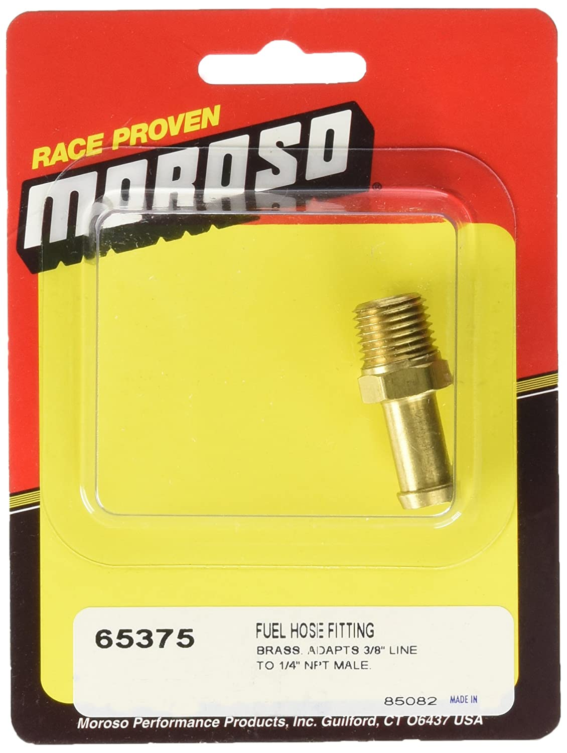 Moroso 65375 3//8 Hose Barb to 1//4 Male NPT Straight Fitting