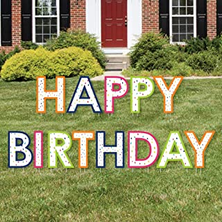 product image for Big Dot of Happiness Cheerful Happy Birthday - Yard Sign Outdoor Lawn Decorations - Colorful Birthday Party Yard Signs - Happy Birthday