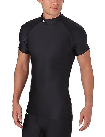 Under Armour ColdGear - Camiseta para hombre, tamaño Medio, color negro