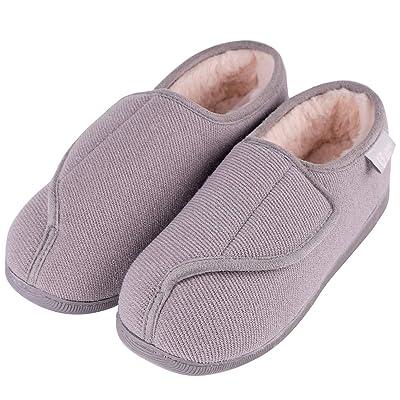 LongBay Women's Furry Memory Foam Diabetic Slippers Comfy Cozy Arthritis Edema House Shoes | Slippers